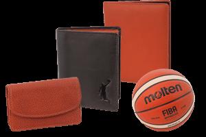 Cartera, agenda y carpeta con piel de pelota de baloncesto - molten ®