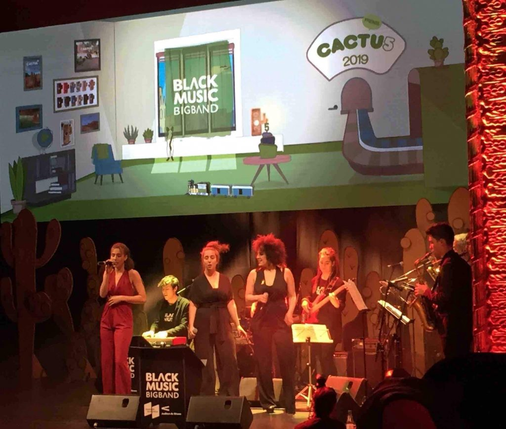 Black Music Big Band actuando los Premios Cactus 2019
