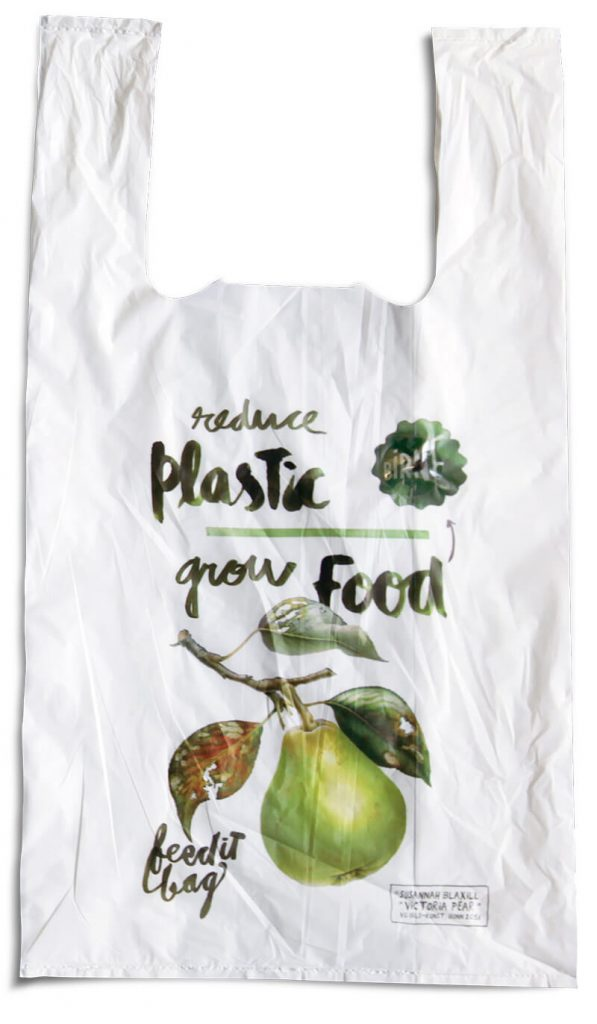 Bolsas biodegradables con semillas de pera