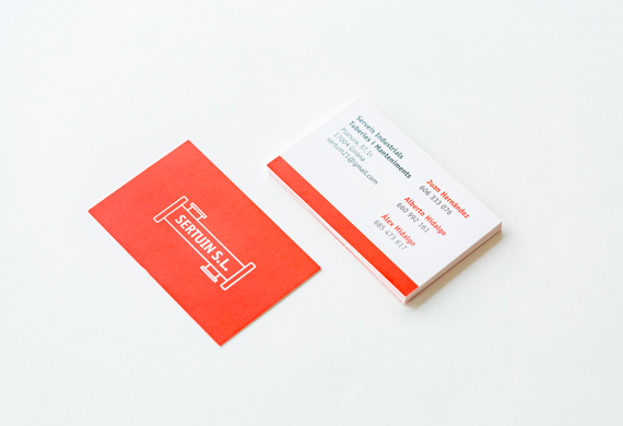 Tarjetas de visita rojas