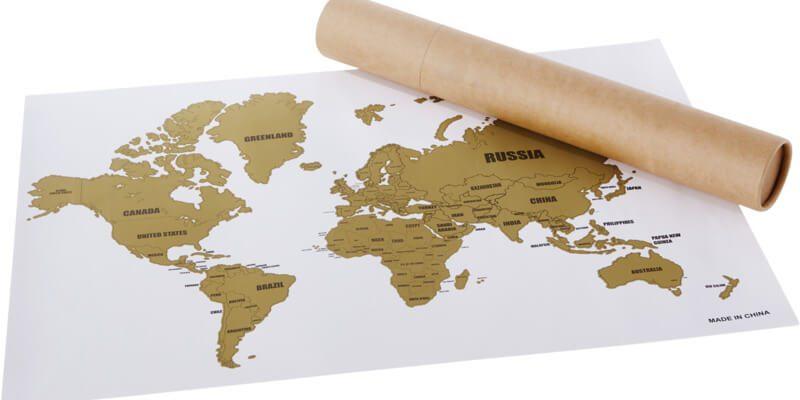 Regals promocionals per Agències de Viatge: mapamundi de rasca-rasca