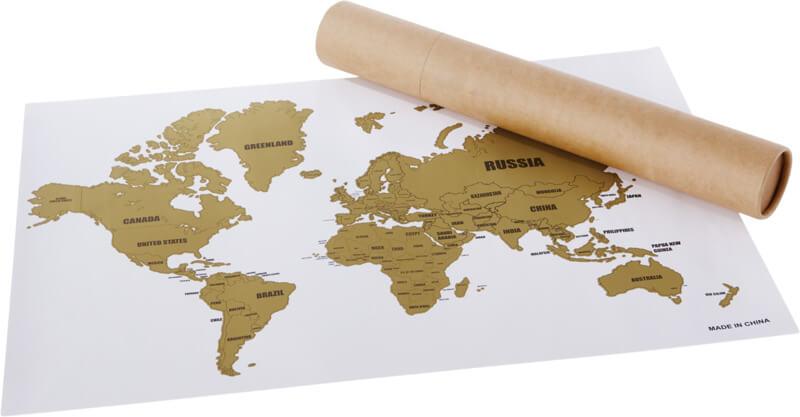 Regal promocional per Agències de Viatge: mapamundi de rasca-rasca
